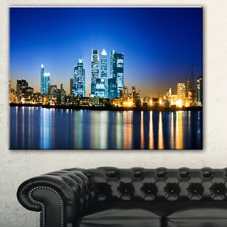 Canary Wharf London' Cityscape Photo Canvas Print
