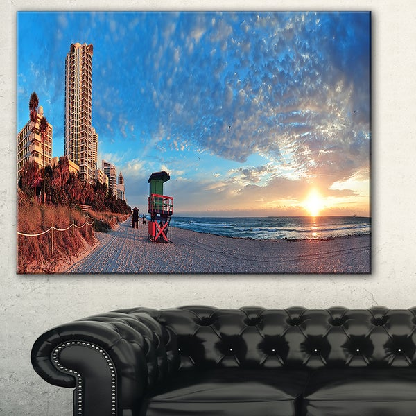 Miami South Beach' Photography Canvas Art Print