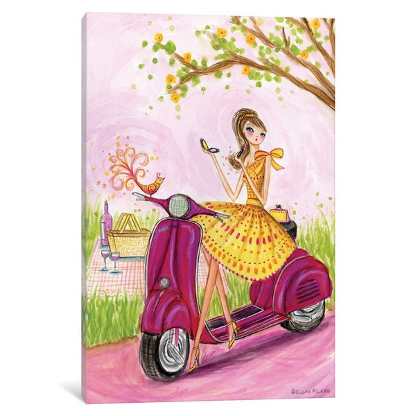 iCanvas 'Birdies Vespa' by Bella Pilar Canvas Print