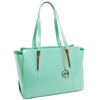 McKlein USA Aldora Mint Leather Fashion Tablet Tote Bag