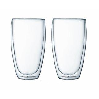 Bodum 4560-10US4 Pavina 15 Ounce Double Wall Glass (Set of 2)