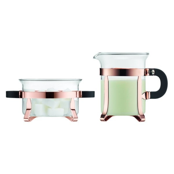Bodum 4922-18 Chambord Classic Copper Sugar and Creamer Set