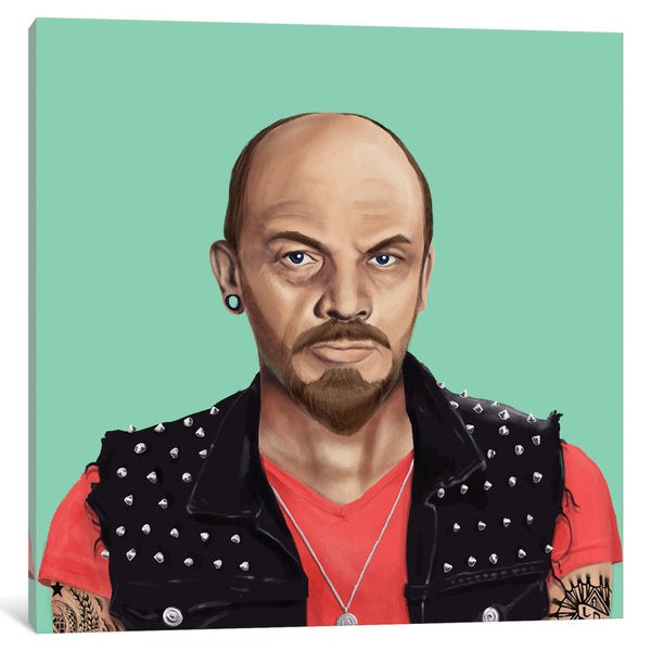 iCanvas 'Vladimir Lenin' by Amit Shimoni Canvas Print