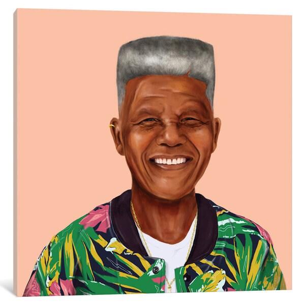 iCanvas 'Nelson Mandela' by Amit Shimoni Canvas Print