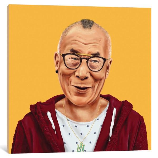 iCanvas 'Dalai Lama' by Amit Shimoni Canvas Print
