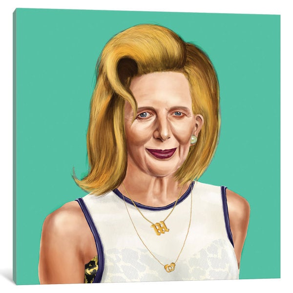 iCanvas 'Margaret Thatcher' by Amit Shimoni Canvas Print