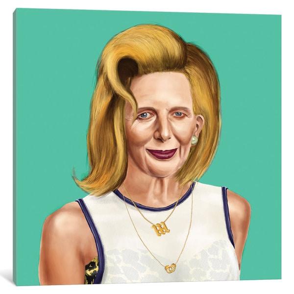 iCanvas 'Margaret Thatcher' by Amit Shimoni Canvas Print