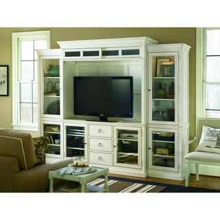 Summer Hill Complete Entertainment Wall in Cotton Finish