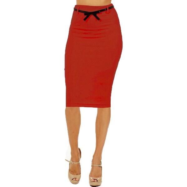 s high waist below knee pencil skirt 18559639
