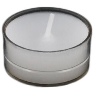 Set of 100 White Unscented Tealight Candles In Clear Cups 18026294