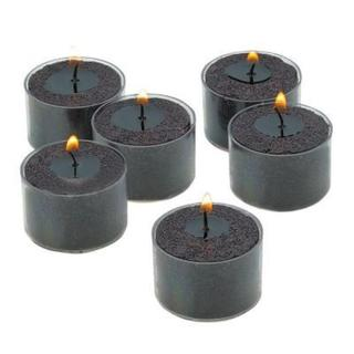 Black Unscented Tealight Candles with Clear Cups with 8-hour Burn (Set of 72) 18026304