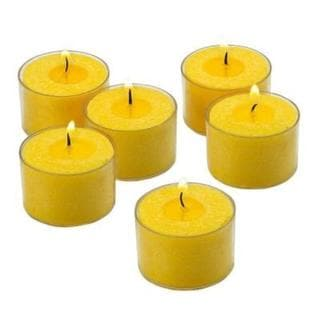 Yellow Scented Citronella Tealight Candles with Clear Cups with 8-hour Burn (Set of 72) 18026307