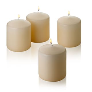 Vanilla Unscented 3 Inch Pillar Candle