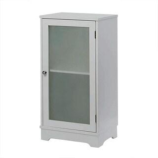 Contemporary White Single Door Cabinet