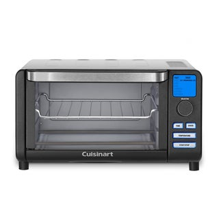 Cuisinart TOB-100BW Compact Digital Toaster Oven Broiler (Black Wrinkle) - Refurbished