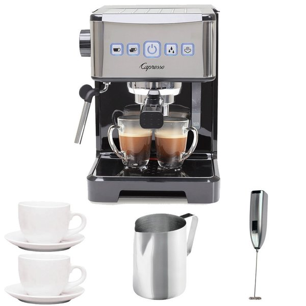 Capresso Ultima PRO Programmable Espresso & Cappuccino Machine + (2) Cappuccino Cups + Pitcher + Frother 18026455