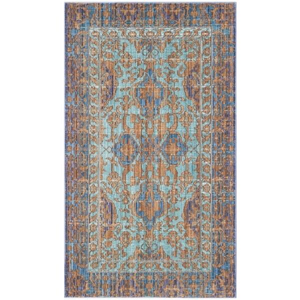 Safavieh Valencia Blue/ Gold Rug (3' x 5')