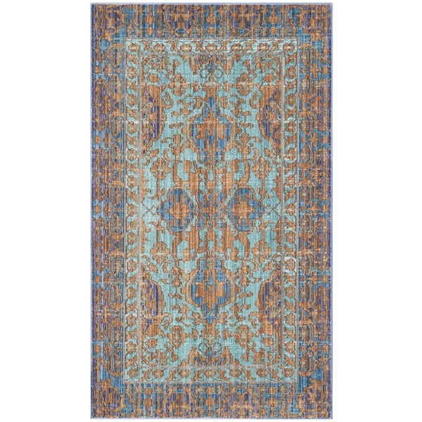 Safavieh Valencia Blue/ Gold Rug (2' x 3')