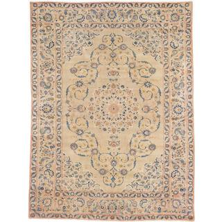 ecarpetgallery Hand-Knotted Persian Vintage Beige Wool Rug (8'6 x 11'5)
