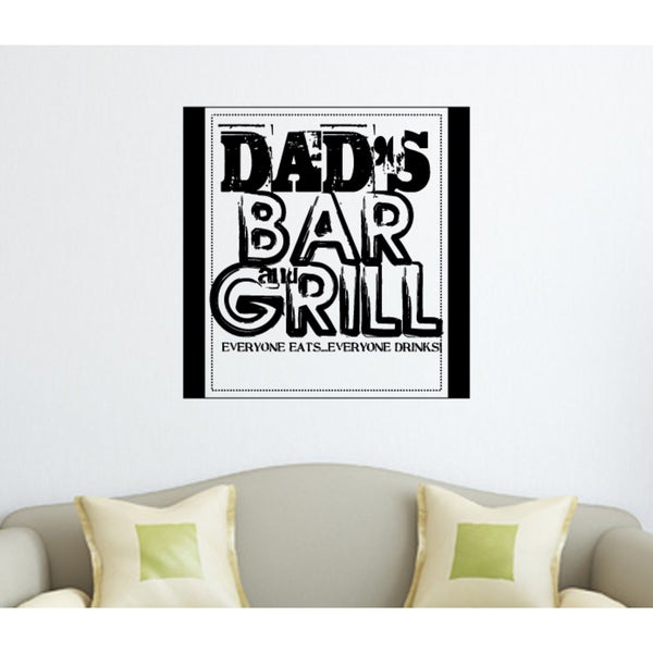 Dad's Bar & Grill quote Wall Art Sticker Decal