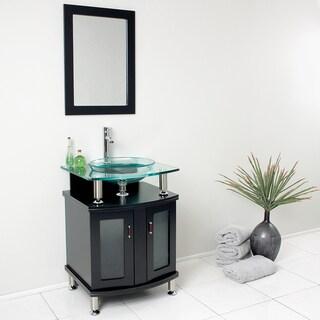 Fresca Contento 24-inch Espresso Modern Bathroom Vanity with Mirror