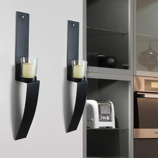 Adeco Accent Metal Wall Sconces, Set of Two