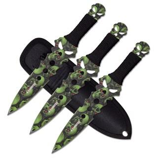 Z-Hunter Stainless Steel Skull Design Throwing Knife Set