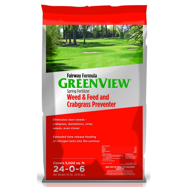 Fairway Formula Spring Fertilizer Weed and Feed with Crabgrass Preventer 24-0-6