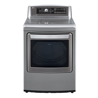 LG DLGX5681V 7.3-cubic Foot Ultra Large High Efficiency SteamDryer with SteamSanitary in Graphite steel