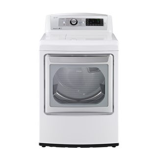 LG DLGX5781WE 7.3-cubic Foot Ultra Large SteamDryer with EasyLoad Door in White