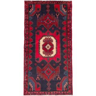 ecarpetgallery Hand-Knotted Persian Zanjan Blue, Red Wool Rug (4'1 x 8'0)
