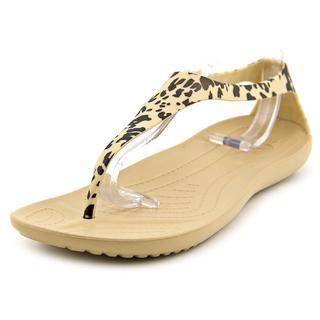 Crocs Women's 'Sexi Leopard Print Flip' Synthetic Sandals
