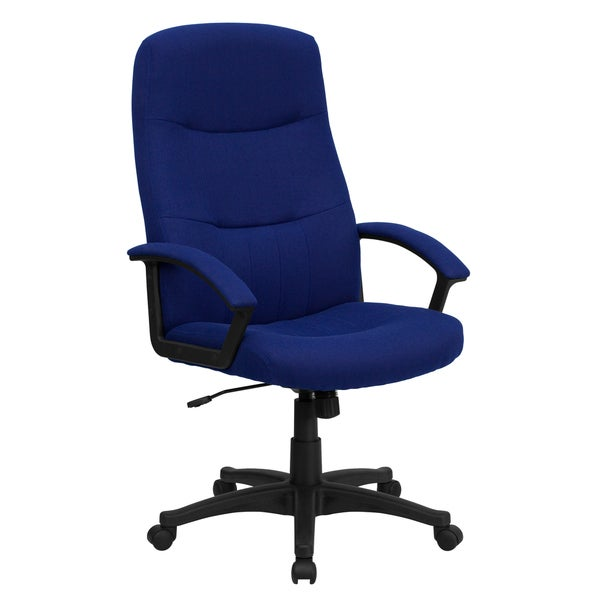 Croft Navy Blue Fabric Executive Adjustable Swivel Office Chair