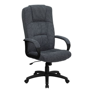 Clifton Grey Woven Fabric Executive Adjustable Swivel Office Chair