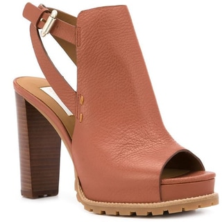 See by Chloe Brown Chunky Heel Sandals