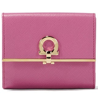 Salvatore Ferragamo French Icona Pink Leather Wallet
