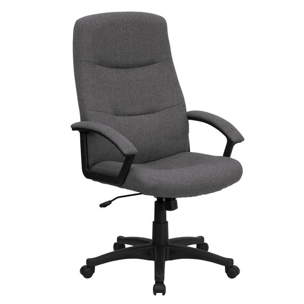 Croft Grey Fabric Executive Adjustable Swivel Office Chair