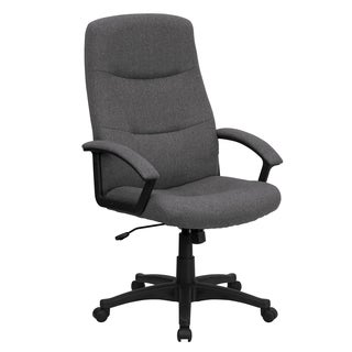 Croft Grey Fabric Executive Adjustable Swivel Office Chair