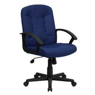 Cudial Navy Blue Fabric Executive Swivel Adjustable Office Chair