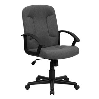 Cudial Grey Fabric Executive Swivel Adjustable Office Chair