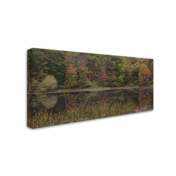 Kurt Shaffer 'October on the Pond' Canvas Art
