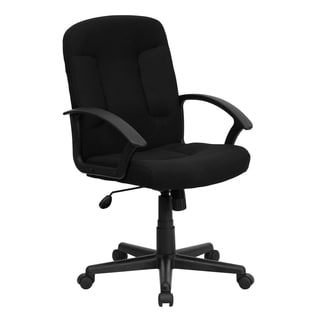 Cudial Black Fabric Executive Swivel Adjustable Office Chair
