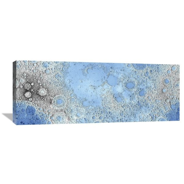 United States Geological Survey 'Unmarked Decorative Topographic Map of the Moon, Projection' Stretched Canvas Artwork