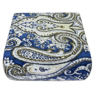 Ultra Soft Modern Paisley Print Fleece Blanket