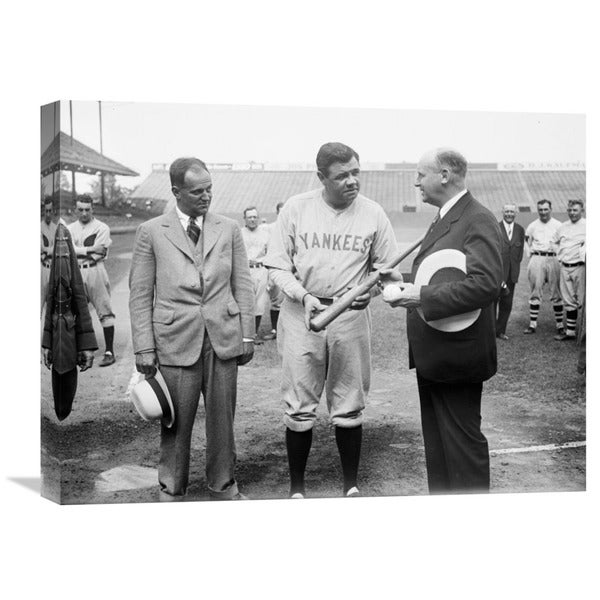 Global Gallery, Harris and Ewing Collection (Library of Congress) 'Babe Ruth, 1928' Stretched Canvas Artwork 18030618