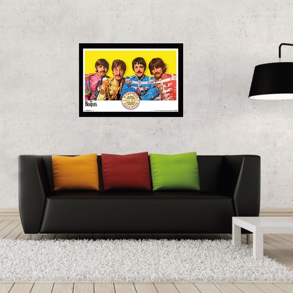 The Beatles Sgt. Peppers Print with Black Wood Frame