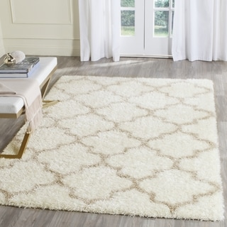 Safavieh Montreal Shag Ivory/ Beige Rug (6'7 x 6'7 Square)