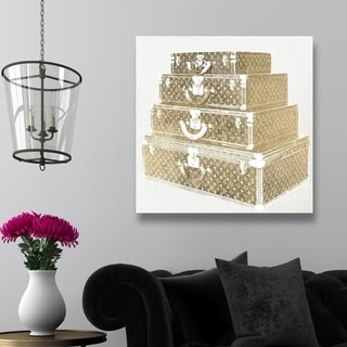 Oliver Gal 'Travel in Style' Fashion and Glam Wall Art Canvas Print - Gold, White