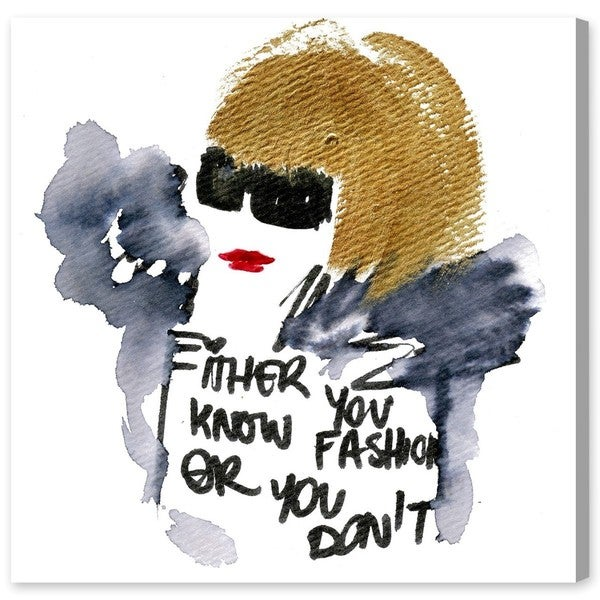 Oliver Gal 'Do you Know Fashion' Canvas Art
