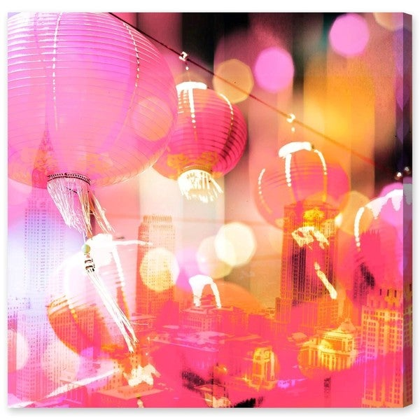 Oliver Gal 'Bright City Lights' Canvas Art